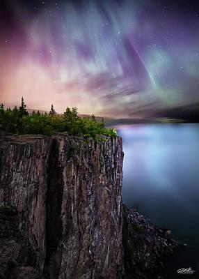 Photograph - Palisade Head - Northern Lights by Joe Polecheck