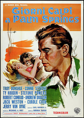 Mixed Media Royalty Free Images - Palm Springs Weekend Italian movie poster 1963 Royalty-Free Image by Stars on Art