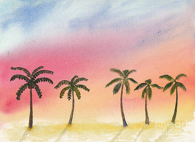 Pasta Al Dente - Palm Trees at Sunset by Conni Schaftenaar