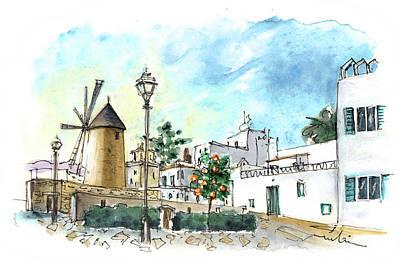 Colorful People Abstract - Palma De Mallorca Windmills 02 by Miki De Goodaboom