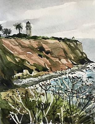 Royalty-Free and Rights-Managed Images - Palos Verdes Lighthouse by Luisa Millicent