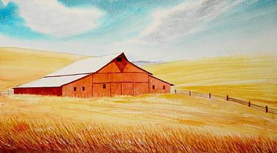 Thomas Kinkade Royalty Free Images - Palouse Air Royalty-Free Image by Leonard Heid