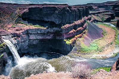 Thomas Kinkade Rights Managed Images - Palouse Falls Canyon Royalty-Free Image by David Patterson