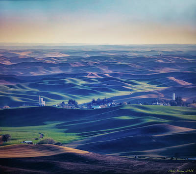 Popstar And Musician Paintings - Palouse Land 017 by Mike Penney