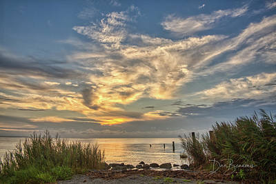 Dan Beauvais Royalty-Free and Rights-Managed Images - Pamlico Morning 2965 by Dan Beauvais