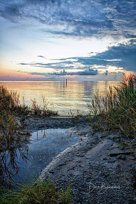 Dan Beauvais Royalty-Free and Rights-Managed Images - Pamlico Sound Dawn 2728 by Dan Beauvais
