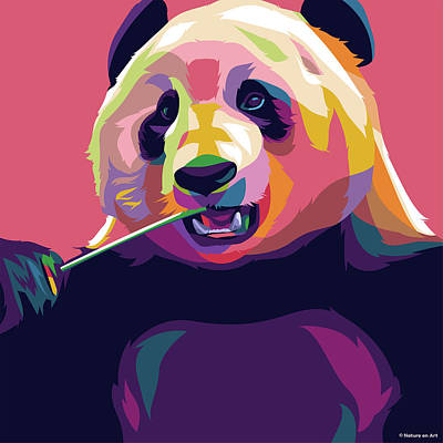 Trick Or Treat - Panda Bear by Stars on Art