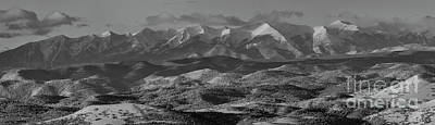 Steven Krull Royalty-Free and Rights-Managed Images - Pano of the Beautiful Snowy Sangre de Cristo Mountains by Steven Krull