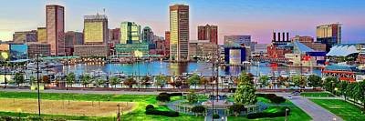 Priska Wettstein Land Shapes Series - Pano Sunset in Baltimore by Frozen in Time Fine Art Photography