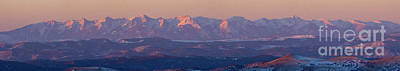 Steven Krull Royalty-Free and Rights-Managed Images - Panorama Alpenglow on the Sangre de Cristo by Steven Krull