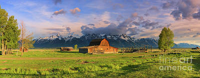 Stellar Interstellar Royalty Free Images - Panorama Mormon Row Barn, Grand Teton N.P Royalty-Free Image by Henk Meijer Photography