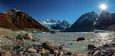 Classic Golf - Panorama of Glacier, Patagonia by Helen Filatova