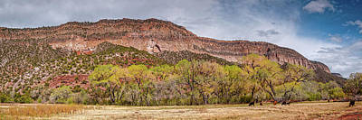 1-war Is Hell Royalty Free Images - Panorama of Jemez Springs Red Cliffs and Cottonwoods - Jemez Pueblo Valles Caldera - New Mexico  Royalty-Free Image by Silvio Ligutti