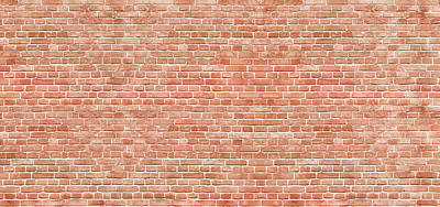 Royalty-Free and Rights-Managed Images - Panoramic background of wide old red brick wall texture. by Julien