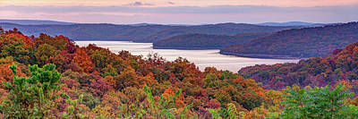 Landscapes Royalty-Free and Rights-Managed Images - Panoramic Landscape of Beaver Lake - Northwest Arkansas by Gregory Ballos