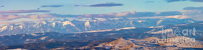 Steven Krull Royalty-Free and Rights-Managed Images - Panoramic Sunrise on the Sangre de Cristo by Steven Krull