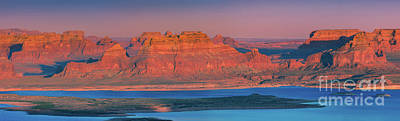 Watercolor Typographic Countries - Panoramic view from Alstrom Point, Lake Powell, Utah by Henk Meijer Photography