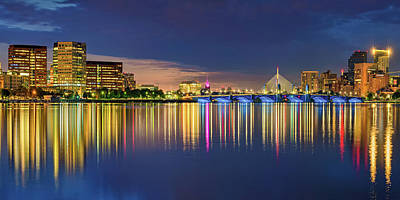 Royalty-Free and Rights-Managed Images - Panoramic View of Bostons Charles River Morning Cityscape by Gregory Ballos