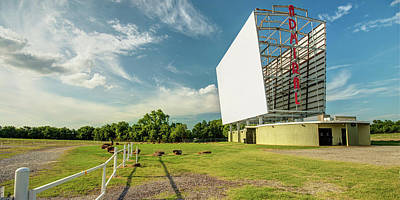 Royalty-Free and Rights-Managed Images - Panoramic View of Historic Tulsa Admiral Twin Drive-In by Gregory Ballos