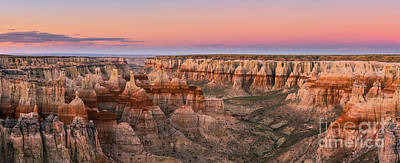 Watercolor Typographic Countries - Panoramic  view on Coal Mine Canyon, Arizona by Henk Meijer Photography