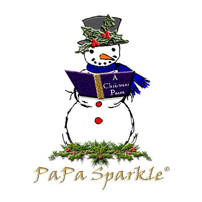 Belinda Landtroop Mixed Media - PaPa Sparkles by Belinda Landtroop