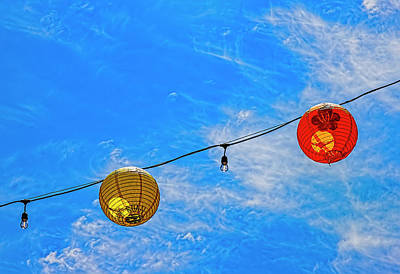 Truck Art Rights Managed Images - Paper Lanterns Chinatown NYC Royalty-Free Image by Robert Ullmann