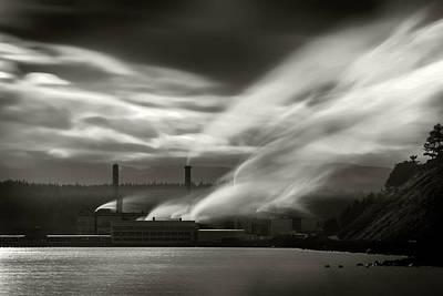 Photograph - Paper Mill by Bud Simpson