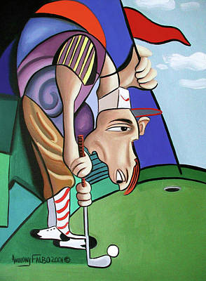 Sports Paintings - Par For The Course by Anthony Falbo