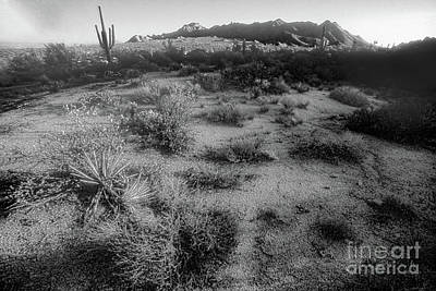 Transportation Digital Art - Paradise Valley - View 1 - Black And White by Anthony Ellis