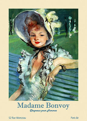Animal Portraits - Paris Hat Shop Advertisement 4 by Andrew Fare