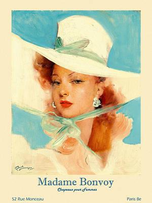 Animal Portraits - Paris Hat Shop Advertisement by Andrew Fare