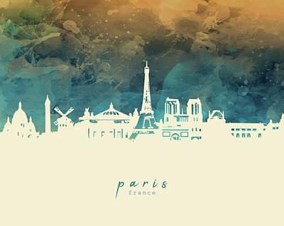 Keith Richards - Paris Skyline Panorama 2 by Bekim M