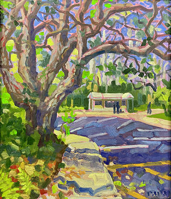 Painting - Parking Lot Kiosk by Ralph Papa
