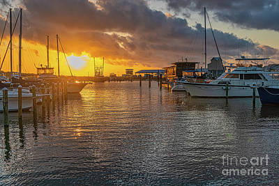 Water Droplets Sharon Johnstone - Pass Harbor Sunrise by Brian Wright