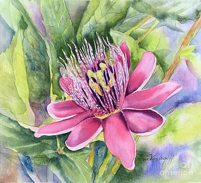 Kitchen Signs - Passion Fruit Flower by Hilda Vandergriff