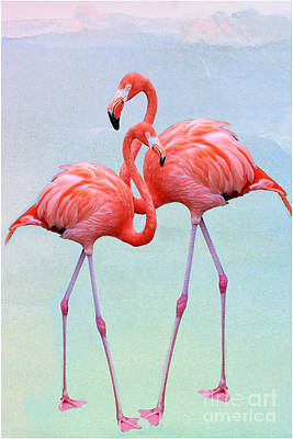 Old Masters - Passionate About Flamingos by Diann Fisher