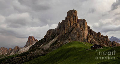 Classic Golf - Passo Giau Sunset by Norma Brandsberg