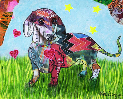 Painting - Patchy Dachsy by Kate Benzin