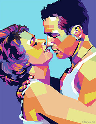 Royalty-Free and Rights-Managed Images - Paul Newman and Piper Laurie by Stars on Art