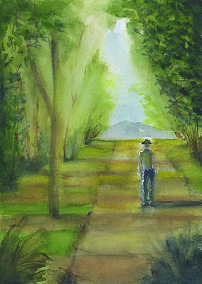 Painting - Pausing On The Path by Frank Bright