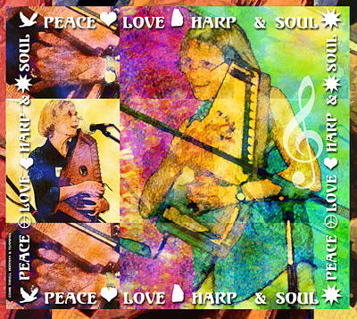 Modern Kitchen - Peace Love Harp and Soul by Faye Cummings