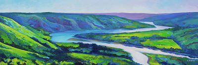 Painting - Peace River in Spring by Alison Newth