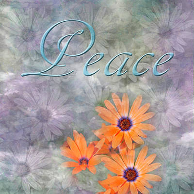 Claude Monet - Peace with Daisy Background by Aimee L Maher ALM GALLERY