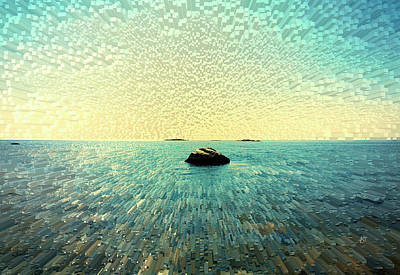 Digital Art - Peaceful morning by Asa Spang Frolund