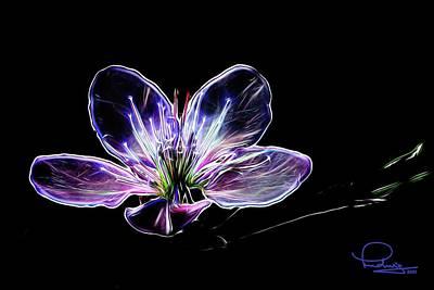 Digital Art - Peach Blossom - 2021 by Ludwig Keck