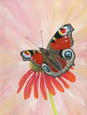 Painting - Peacock Butterfly by Craig Austin