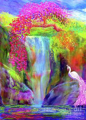 Surrealism Royalty-Free and Rights-Managed Images - Peacock Falls by Jane Small