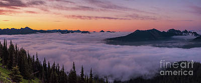 Little Mosters - Peaks Above the Clouds from Sunrise by Mike Reid