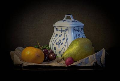 Photograph - Pear and Radish Still Life by Sean Patrick Durham