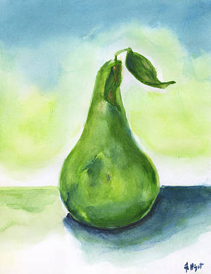 Painting - Pear One by Frank Bright